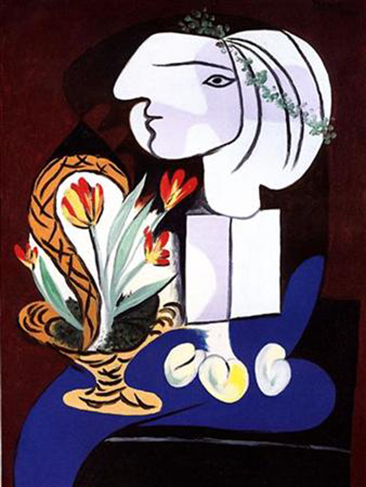 """Nature morte aux tulipes"" by Pablo Picasso, shown here, will be offered at Christie's 20th Century .."