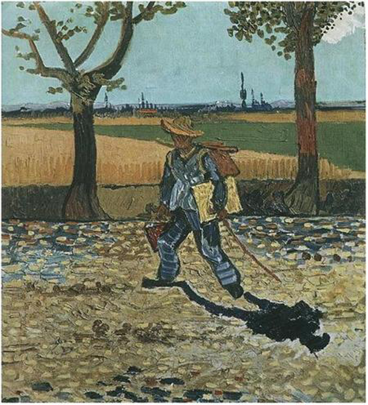 obras de arte perdidas: Vang Gogh, the-painter-on-his-way-to-work