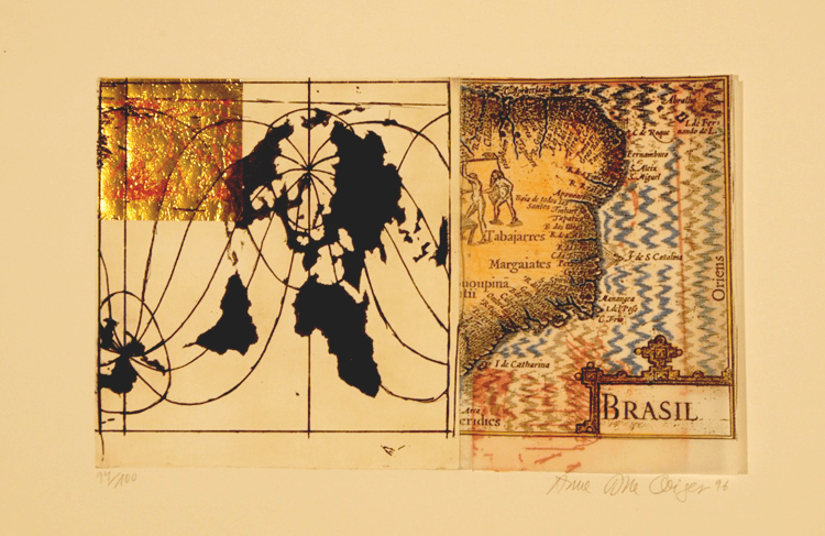 Anna Bella Geiger, Brasil 1500, 1996 (gravura em metal, 21x34cm)