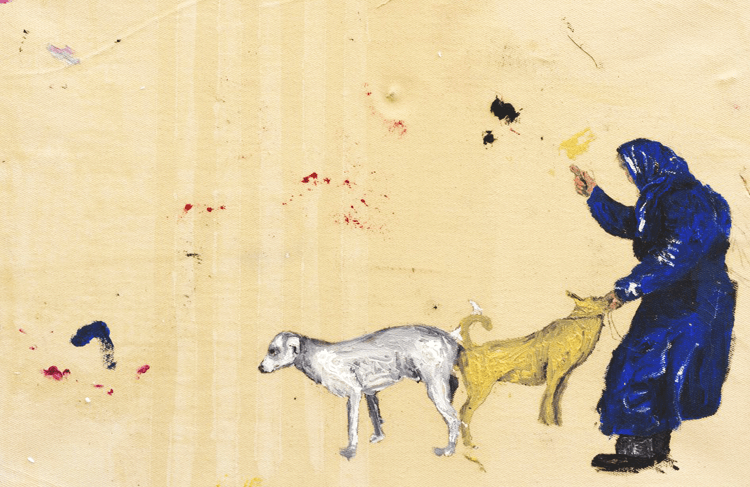 Dialogismos mixurucas nº53, óleo sobre tela, 45 x 32 x 4 cm , 2014