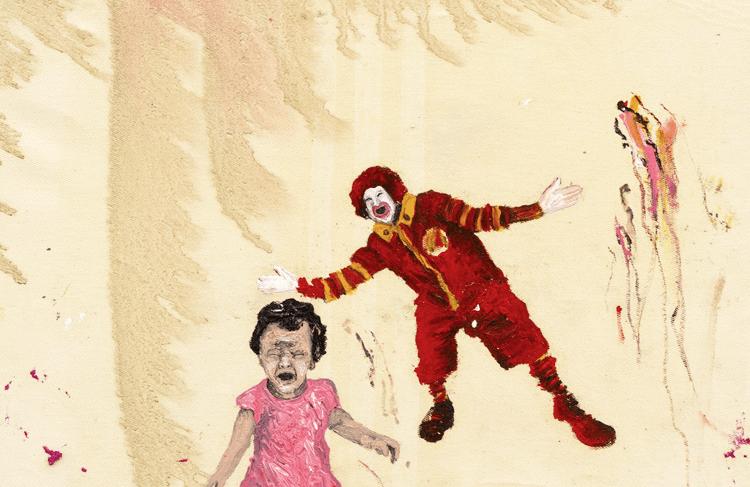 Dialogismos mixurucas nº62, óleo sobre tela, 45 x 32 x 4 cm , 2014