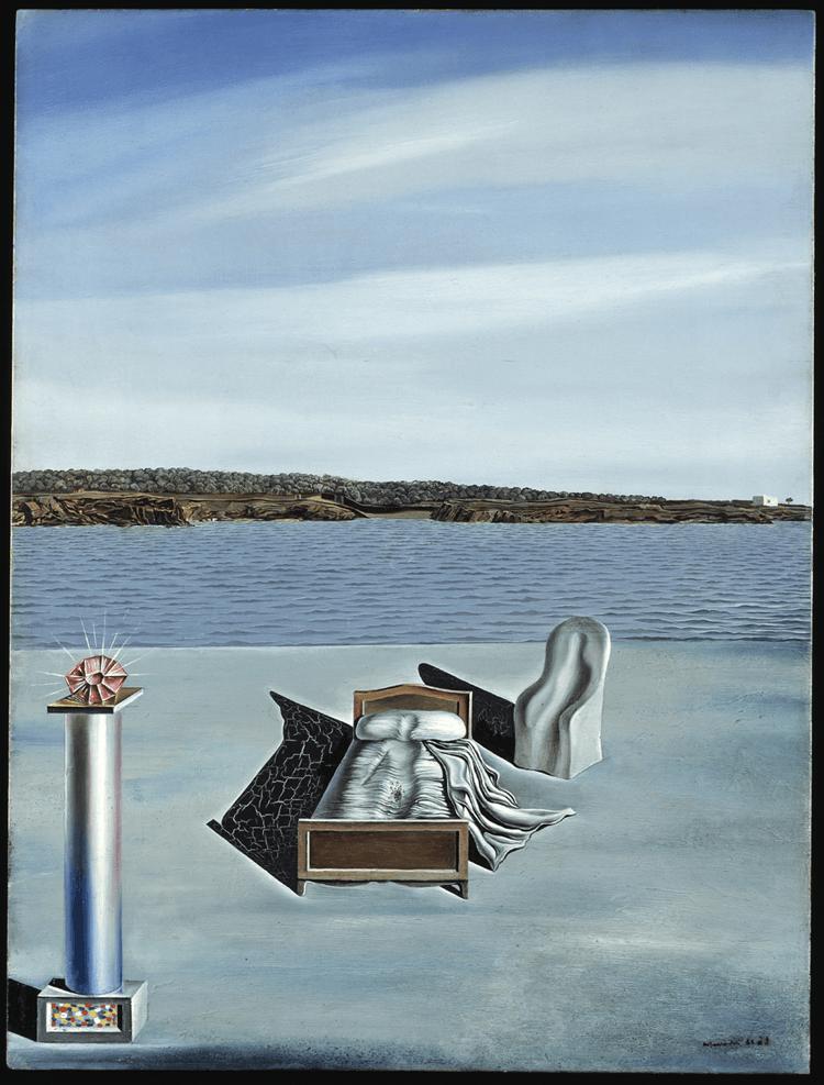 Salvador Dalí. Composição surrealista com figuras invisíveis, c. 1936. Fundació Gala-Salvador Dalí, Figueres. © Salvador Dalí, Fundació Gala-Salvador Dalí, Figueres.