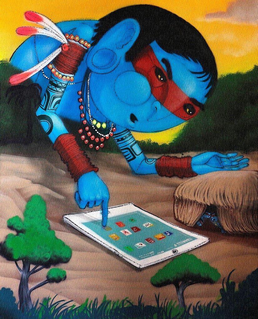 2015-120x150cm-Gigante-no-ipad-e-mini-oca-spray-on-canvas
