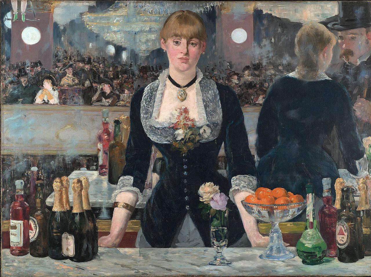 Manet_Le Bar aux Folies-Bergère_ Londres_Courtauld Institute Galleries