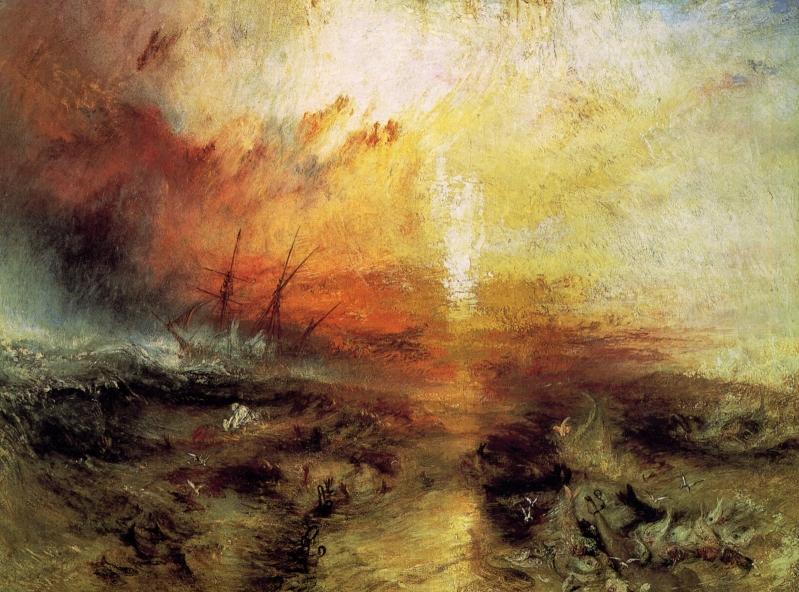 Turner _O Navio Negreiro_ Óleo sobre tela_Museu de Belas Artes_Boston