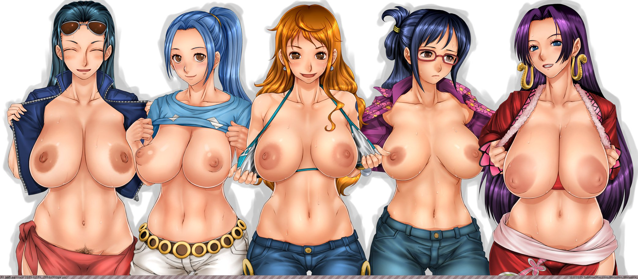 Excited too One piece girls nude well!