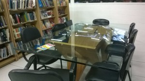 mesa da biblioteca