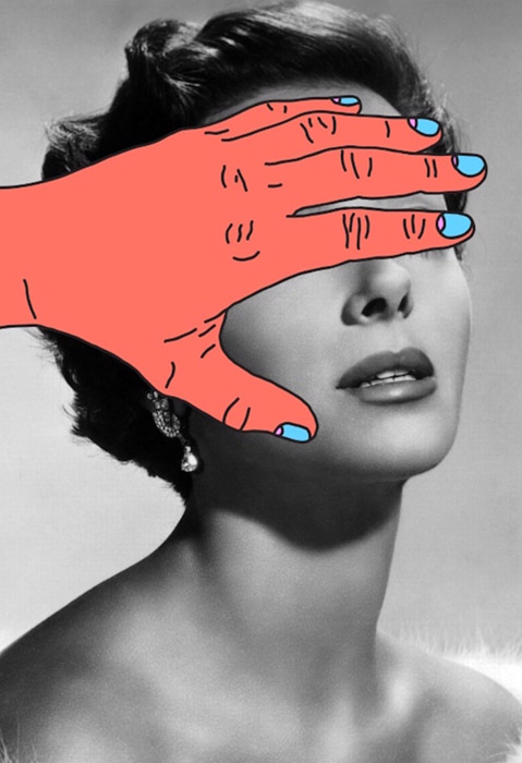 artistas de fotomontagem; Tyler Spangler - Burning Hands