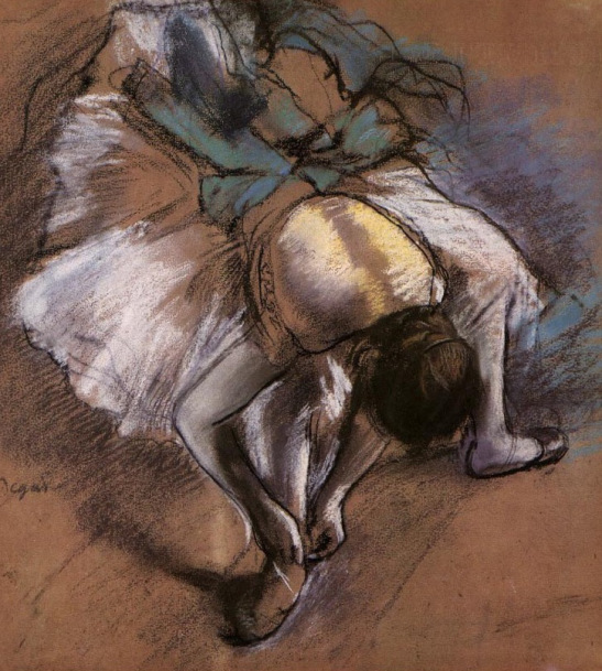 Edgar Degas. Dancer Ajusting The Slipper
