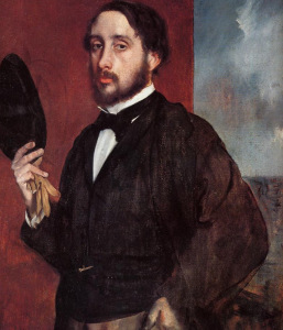 Edgar Degas. Self Portrait Saluting