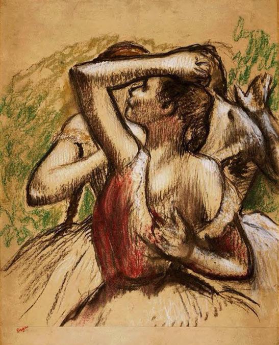 Edgar Degas. Three Ballet Dancers