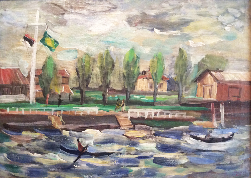 Mário Zanini - 1943, Regata no Tietê, ost, 33 x 46 cm_baixa
