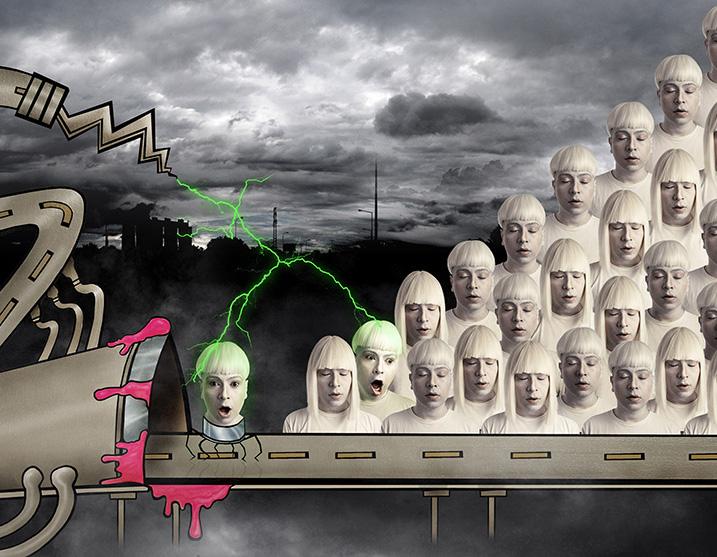 Como são as gosmas e os alienígenas de Cóstackz?