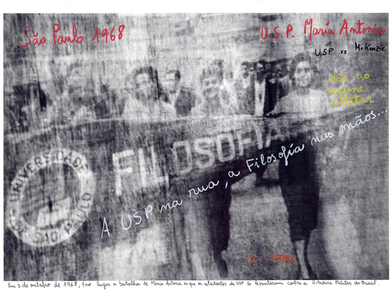 011.USP, SP, 1968, 2014_Foto e intervenção Marcelo Brodsky
