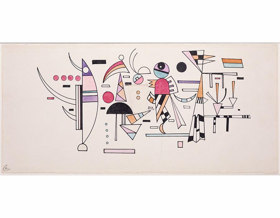 Artista Wassily KANDINSKY_ Obra Entwurf zu 'Leicht Zusammen - CrÇdito Archivo Helga de Alvear