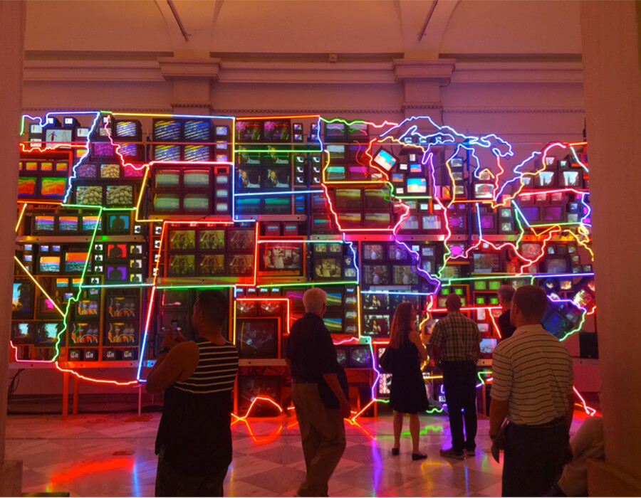 Nam June Paik – Electronic Superhighway