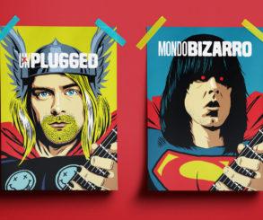 Ilustrador Transforma Astros do Rock em Super Heróis.
