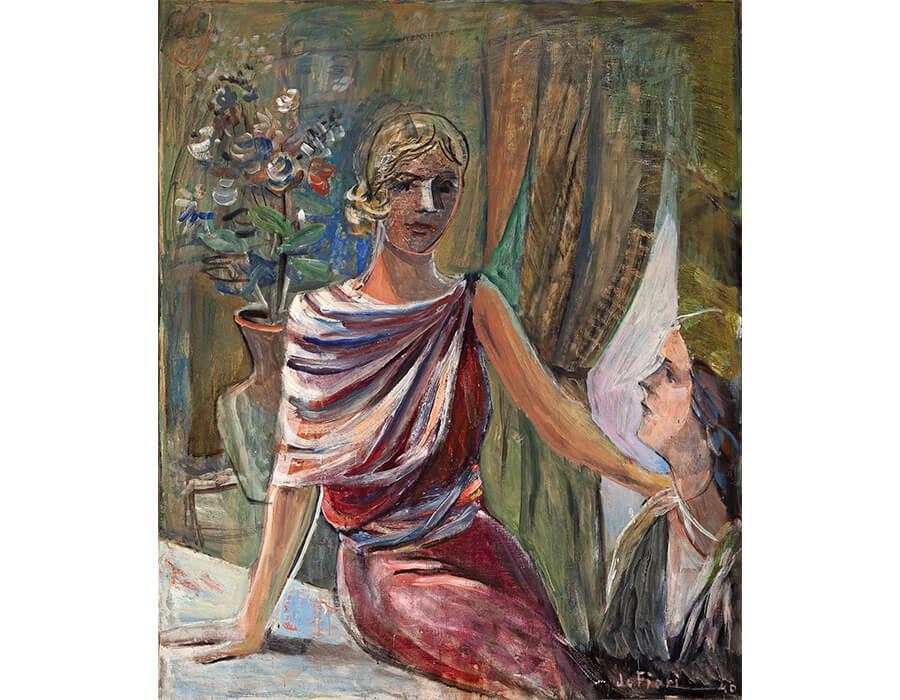 Duas_mulheres_em_interior_1940_oleo_sobre_tela_120_100_cm