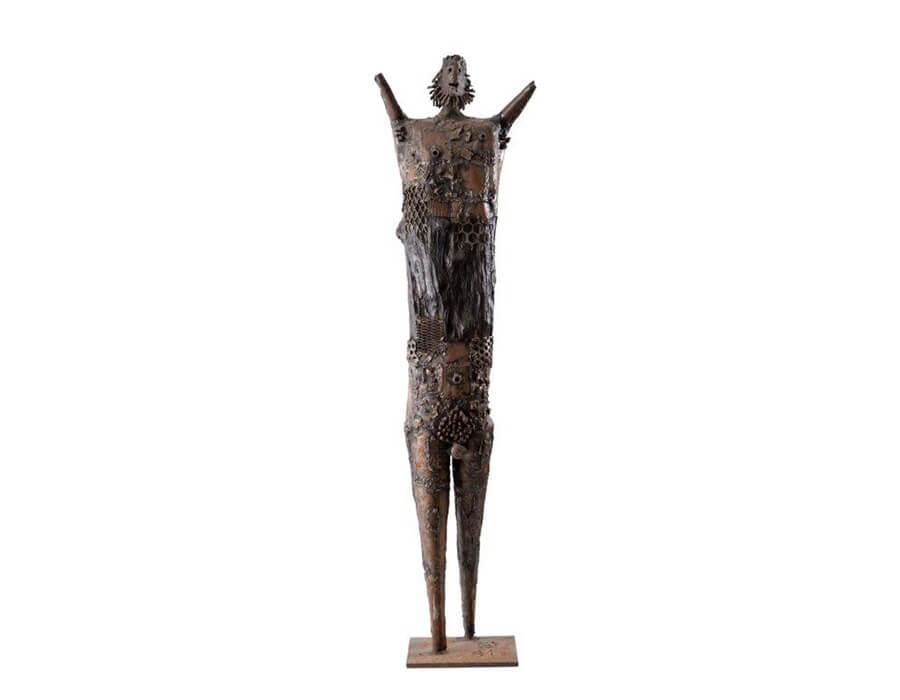Francisco Stockinger - Guerreiro -  metalç e madeira - década de 1960