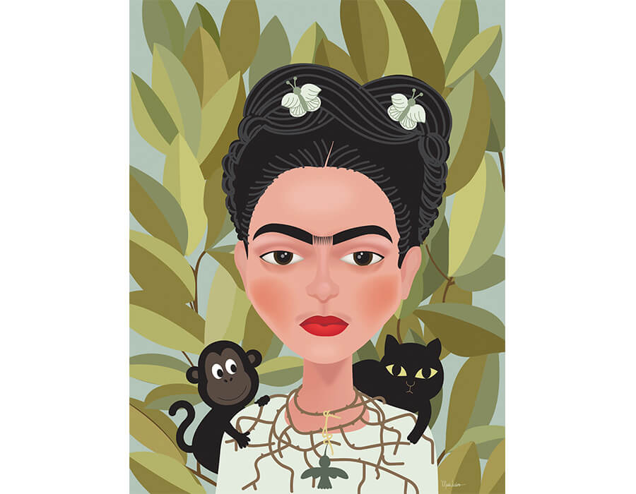Frida-Kahlo_self-portrait-Maria-Luziano