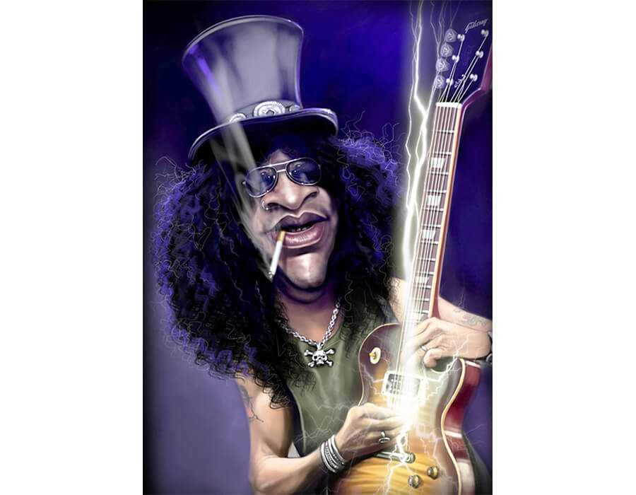 Slash (Caricatura- Jason Seiler)