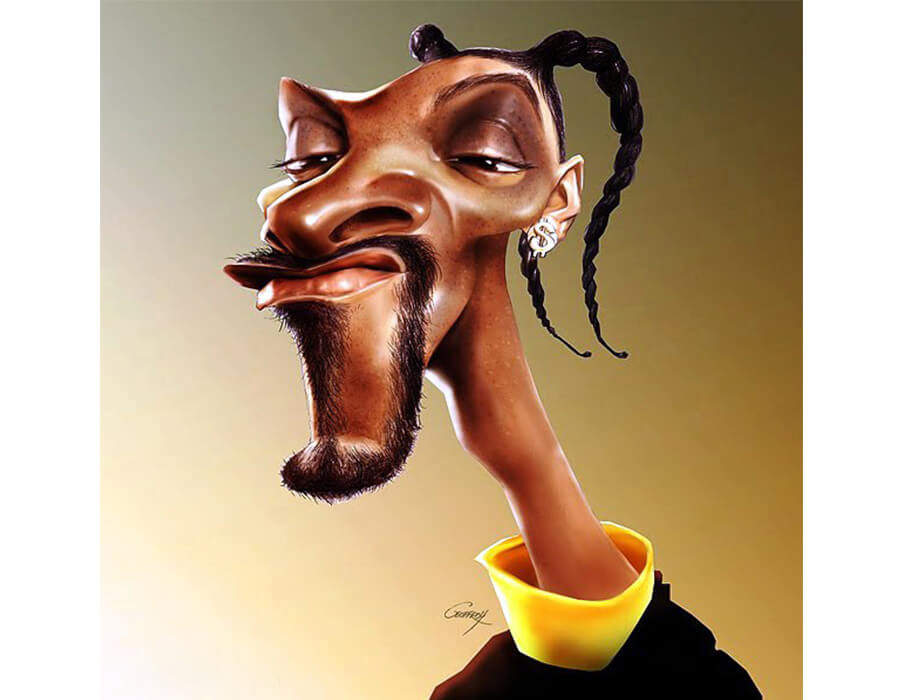 Snoop Dog (Caricatura- Anthony Geoffrey)
