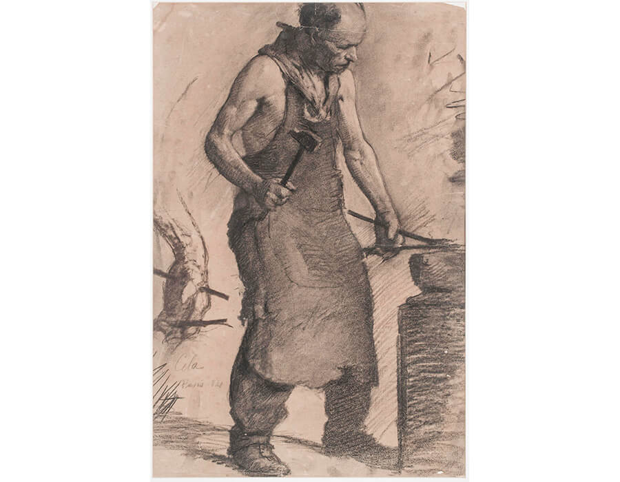 ferreiro-1921-crayon-sobre-papel-61x405-cm-museu-de-arte-da-univeridade-do-ceara-fortaleza-ce