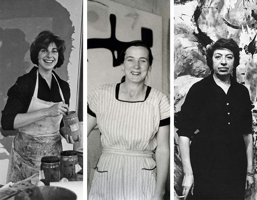 Helen Frankenthaler, Lee Krasner e Agnes Martin