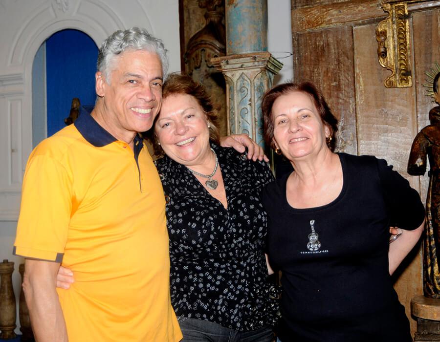 Jorge Brandão, Laura Elisa e Laide Ribeiro Alves