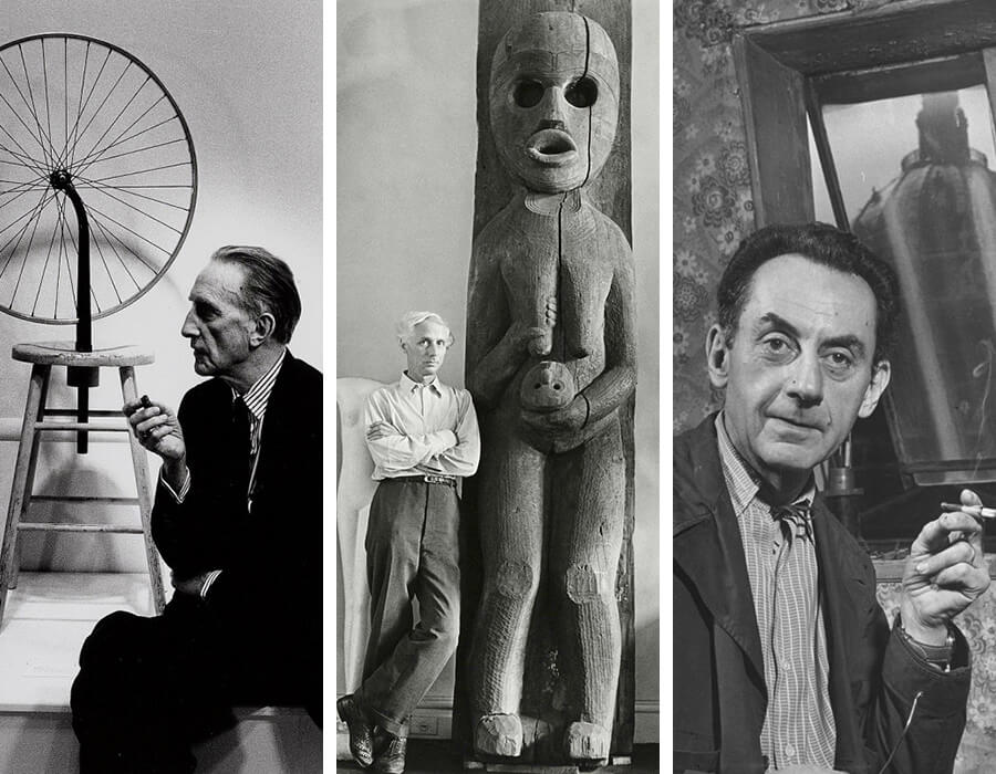 Marcel Duchamp, Max Ernest e Man Ray