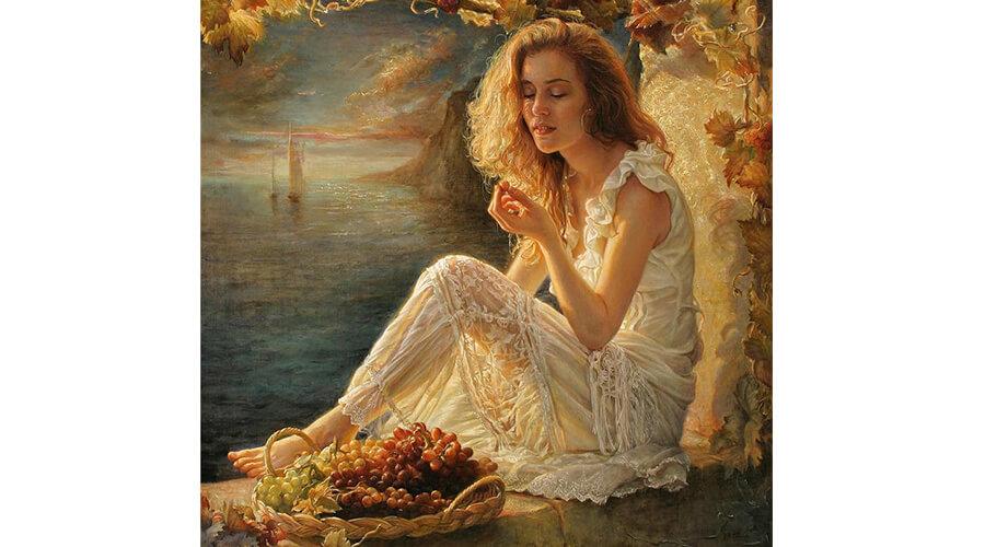 Pintura da artista Helene Beland.