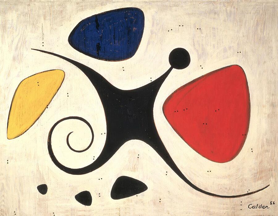 Santos (1956), de Alexander Calder. Óleo sobre compensado | Calder Foundation, New York (Foto: AUTIVS/Itaú Cultural)