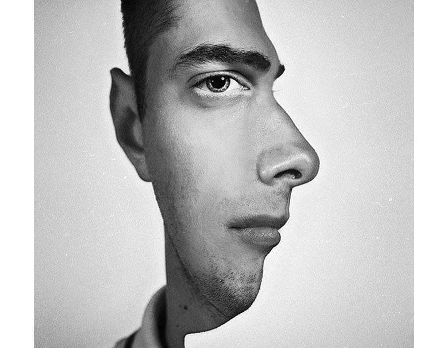 manipulacao-de-imagem-onde-a-face-humana-pode-ser-vista-de-perfil-e-de-lado-ao-mesmo-tempo