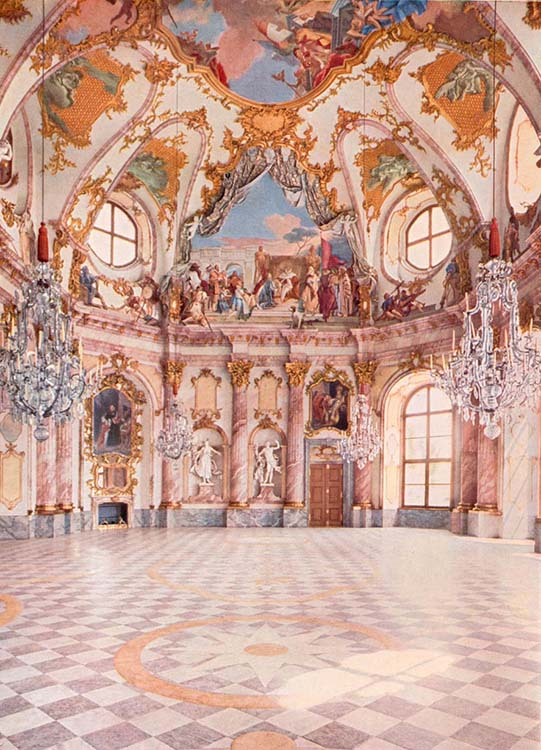 Diferença entre rococó e barroco. Arquitetura em Rococó