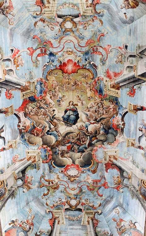 Diferença entre rococó e barroco - Glorificação de Nossa Senhora, Igreja de São Francisco