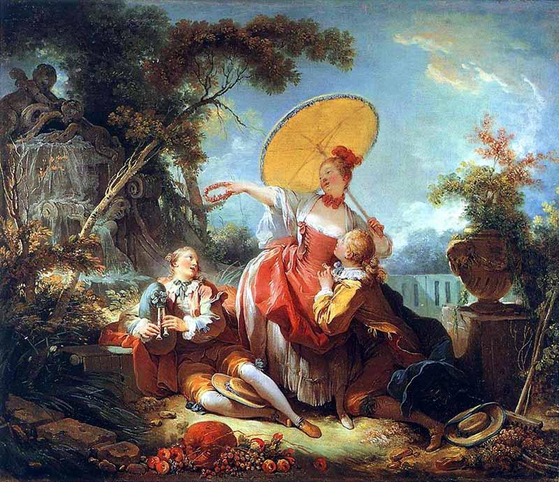 rococó; Jean Honoré Fragonard- O amoroso coroado