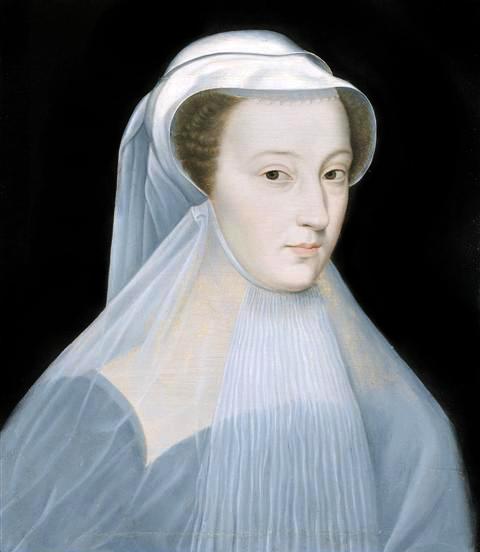 Retrato de Mary Stuart, Rainha da Escócia, em luto por seu marido, o Rei Francis II da França, que morreu em 1560