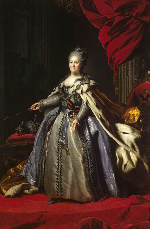 Imperatriz Catarina, A Grande (1780) - Fyodor Rokotov