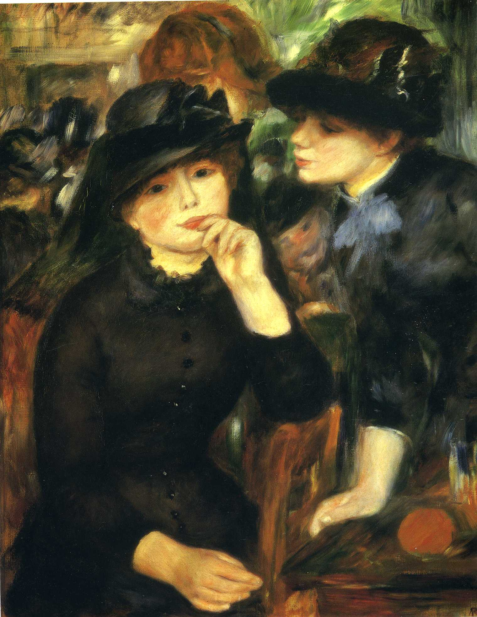 Duas meninas de preto (1881) - Pierre-Auguste Renoir