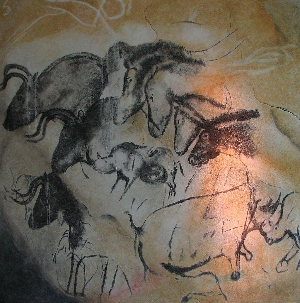 Pinturas rupestres na caverna de Chauvet, França (30.000-32.000 A.C.)