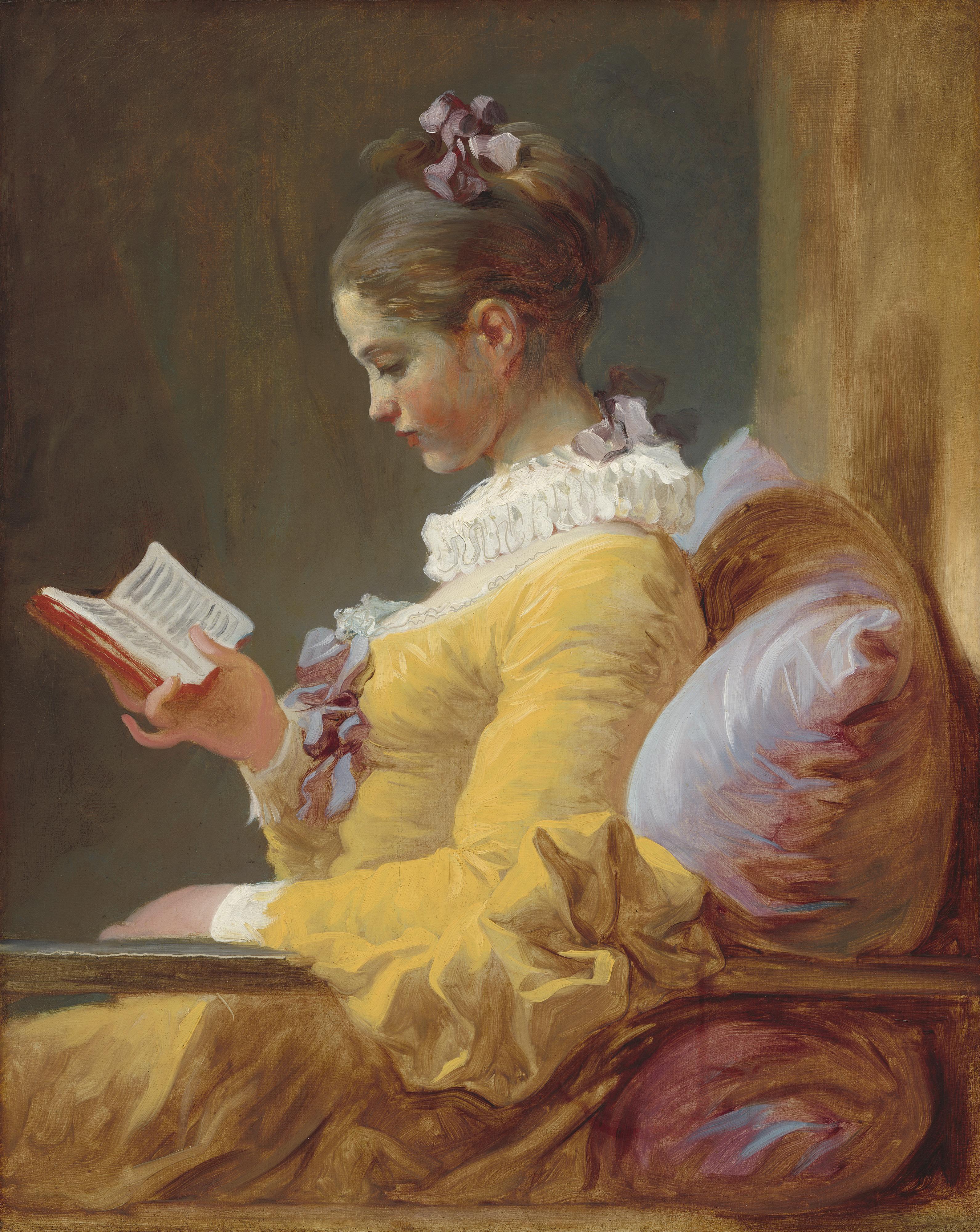 A Leitora (1770-1772) - Jean-Honoré Fragonard