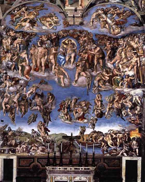 Da Vinci e Michelangelo  Michelangelo-Buonarroti-Last-Judgment-4-
