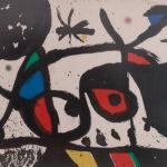 Obra atribuída a Miró e apreendida pela justiça brasileira.