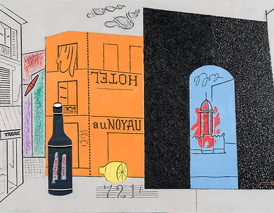 Stuart Davis, Arch Hotel , 1929, óleo sobre tela, Sheldon Museum of Art, Universidade de Nebraska-Lincoln, Anna R. e Frank M. Hall Charitable Trust. Foto © Sheldon Museu de Arte