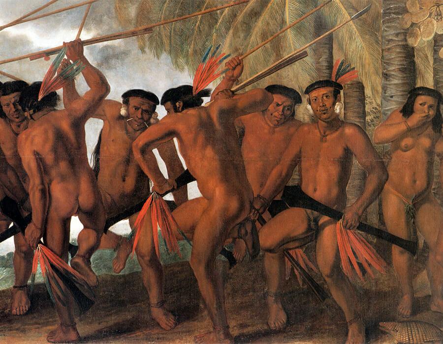 """""""Dança Tapuia"""", Albert Eckhout, 1641"""