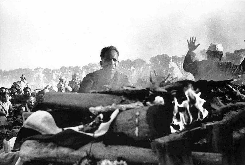 Cremação de Gandhi, Delhi, 1948