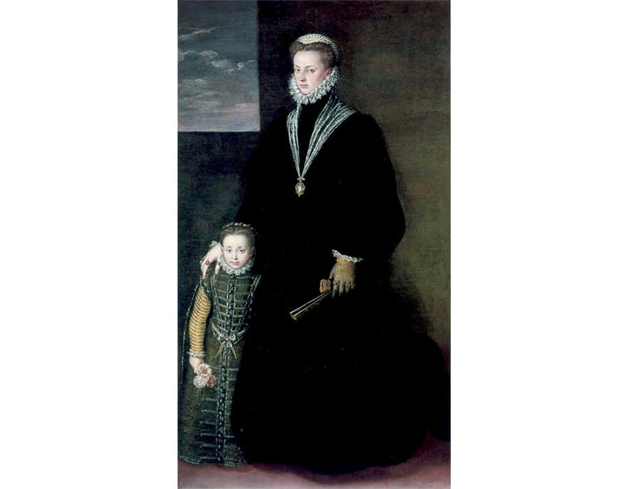 Portrait Of Juana Of Austria With A Young Girl, 1561