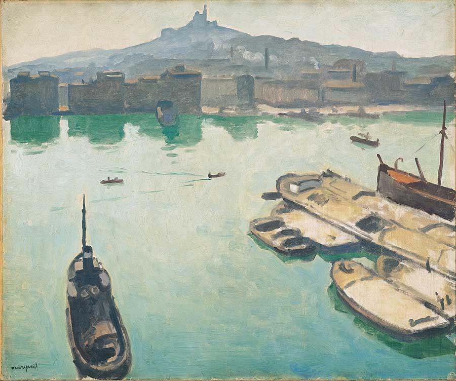 fauvismo; Albert Marquet - Porto de Marselha (1916)