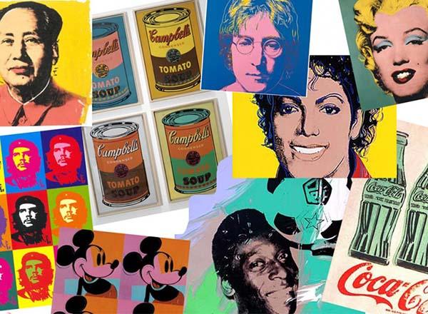 pop art; Coletânea de obras de Andy Warhol