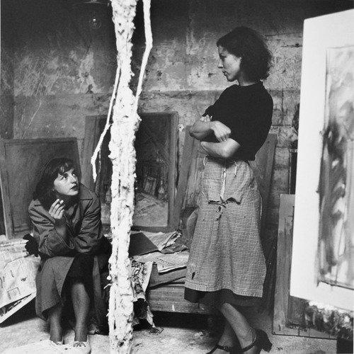 Annette (direita) mulher de Giacometti com uma amiga